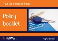 Policy booklet - Your Policy Summary
