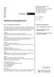 ArchInfo 11/2013 - Kammer der Architekten und Ingenieurkonsulenten