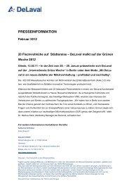 Pressemitteilung als PDF zum Download - DeLaval