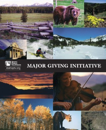 Idaho Public Television Case Materials - Major Giving Initiative