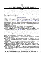 alma mater studiorum - università di bologna - Collegio IPASVI ...