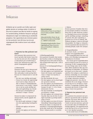 Inkasso - Den norske tannlegeforenings Tidende