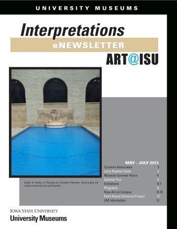 May - July 2013 - University Museums - Iowa State University