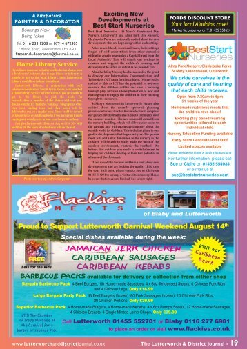 The Lutterworth & District Journal - our Website!