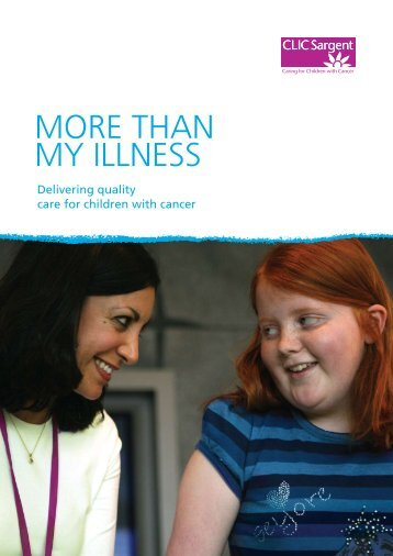 More Than My Illness (children) - CLIC Sargent