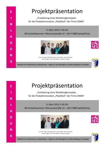 Projektpräsentation Projektpräsentation