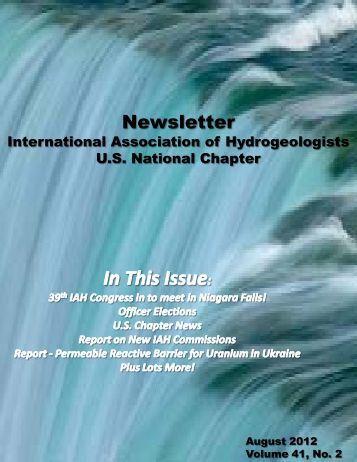 Download August 2012 IAH USNC Newsletter