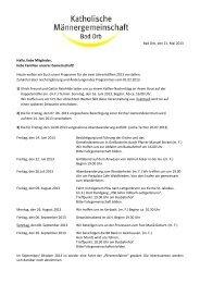 2. Halbjahresprogramm - Pfarrgemeinde St. Martin, Bad Orb