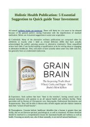 Holistic Health Publication: 5 Essential Suggestion to Quick guide Your Investment.pdf