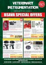 BSAVA SPECIAL OFFERS - Veterinary Instrumentation