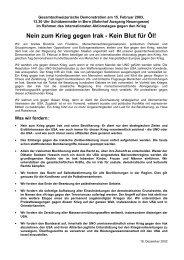 Aufruf Deutsch - Gruppe für eine Schweiz ohne Armee