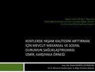 Gözde Ekşioğlu - Türkiye Sağlıklı Kentler Birliği