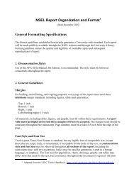 Formatting Specifications