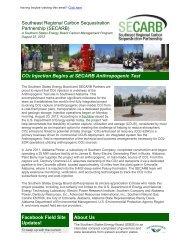 Press Release - Southeast Regional Carbon Sequestration ...