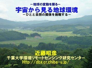 講演資料はこちら(PDF) - 近藤研究室 - 千葉大学
