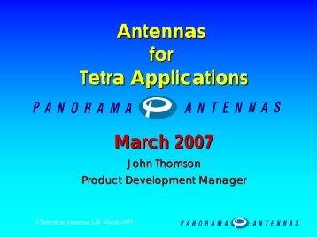 Panorama Antennas - tetra