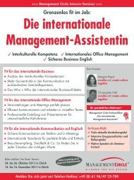 Die internationale Management-Assistentin - Management Circle AG