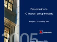 Presentation to IC interest group meeting