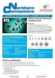 Download Souriau UTG Plastic Circular Connectors with Metal ...