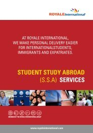 student study abroad (ssa) services - Royale International Group