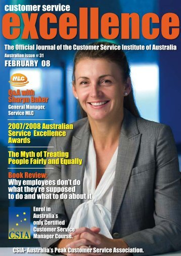 Issue 31 - Customer Service Institute of Australia