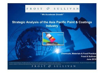 Strategic Analysis of the Asia Pacific Paint & Coatings Industry