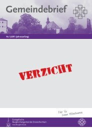 """1/2011: """"Verzicht"""" (2,15 MB) - Evangelische Burgkirchengemeinde ..."""