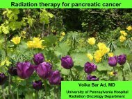 Radiation therapy for pancreatic cancer - Abramson Cancer Center