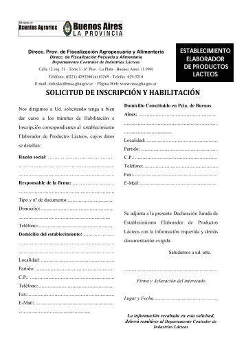 Requisitos y solicitud de Establecimientos elaboradores