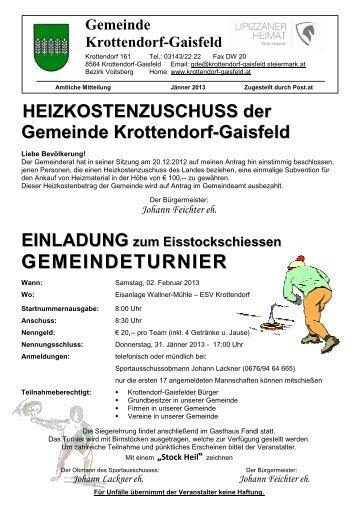 Amtliche Mitteilung Jänner 2013 - Gemeinde Krottendorf-Gaisfeld