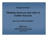 Framing use and value of weather forecasts - Societal Impacts ...