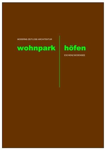 wohnpark höfen - Fertig-bauhaus.ch