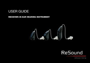USER GUIDE - GN ReSound