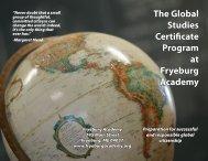Global Studies Program Brochure - Fryeburg Academy