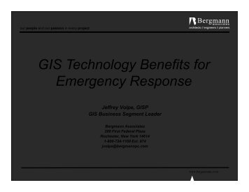 GIS Technology Benefits for Emergency Response - Northeast Arc ...
