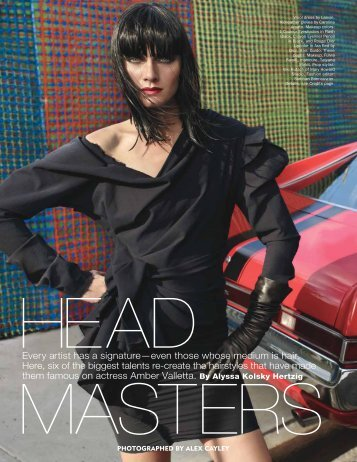 """Head Masters"", Allure, November 2010 - Alyssa Hertzig"