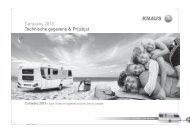 Caravans 2013 Technische gegevens & Prijslijst