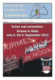 Nummer 30, erschienen am 1. August 2012 - Landkreis Sömmerda