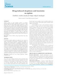 Drug-induced sleepiness and insomnia: an update - Sleep Science ...