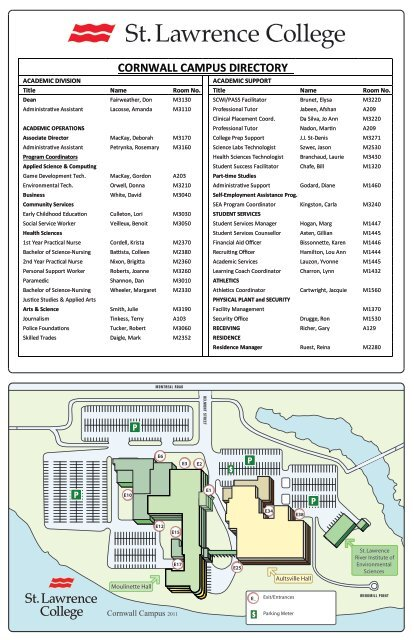 St Norbert College Campus Map.Download Campus Map Home A St Lawrence College Virtual Tour
