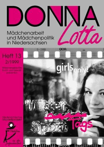 """Donna Lotta"", Heft 13, 1999"