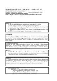 Leitura da linguagem cinematográfica - Professora Maria Vichineski