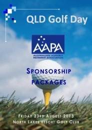 SPONSORSHIP PACKAGES - Aapaq.org