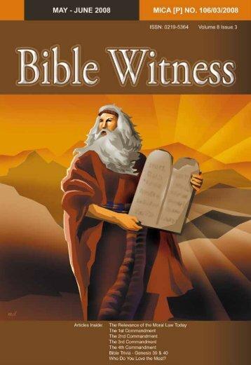 The Ten Commandments - Bible Witness