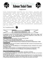 Ausgabe 01/05 - Teckelgruppe Raben