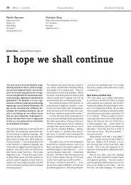 I hope we shall continue - Nieuw Archief voor Wiskunde
