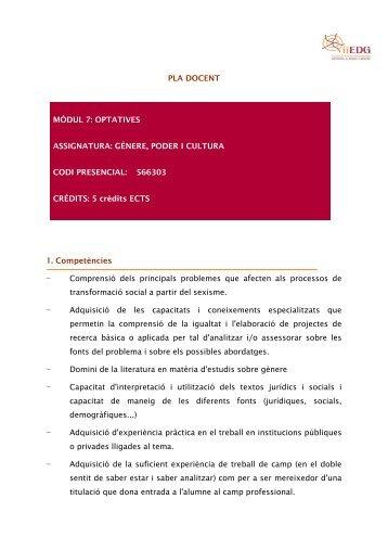 PLA DOCENT 1. Competències - Institut Interuniversitari d'Estudis ...