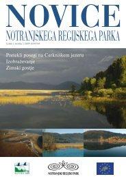 Pretekli posegi na Cerkniškem jezeru Izobraževanje Zimski gostje