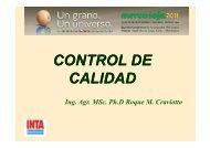 CONTROL DE CONTROL DE CALIDAD - Mercosoja 2011