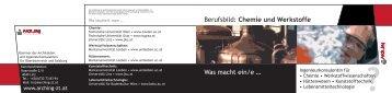 Berufsbild: Chemie und Werkstoffe - Kammer der Architekten und ...